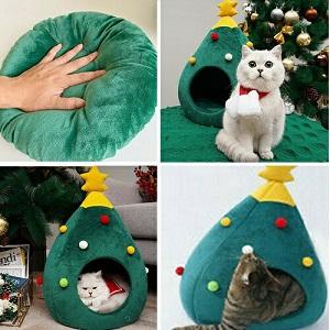 クリスマスツリー猫ハウス