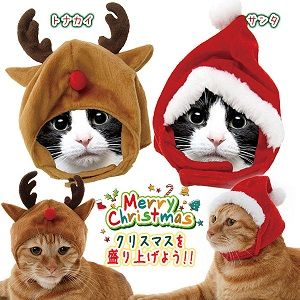 ほっかむり猫クリスマス