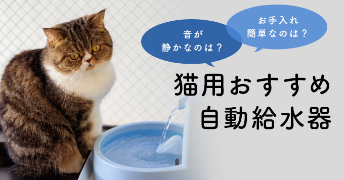 猫の自動給水器おすすめ12選【選び方のポイントも紹介】