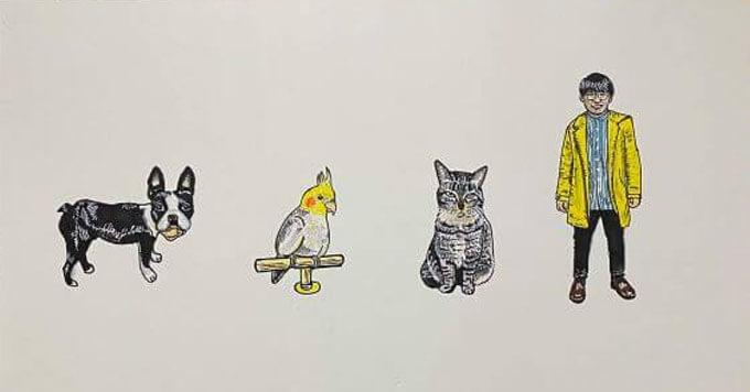 「猫・犬・鳥・人」4種族なかよしファミリーに子猫さん新加入!